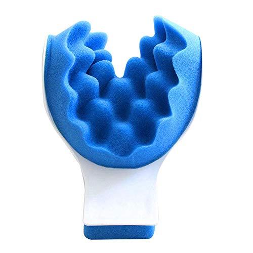 Odoukey El Cuello y el Hombro Almohada Almohada de Masaje de relajación quiropráctica Almohada tracción del Cuello de la Almohadilla del Cuello masajeador Relajante Muscular de Cuello Azul Relajante