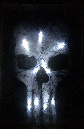 Samarkand - Lights LED-Bild mit Beleuchtung LED- Bilder Leinwandbild 65 x 45 cm Leuchtbild Totenkopf Wandbild