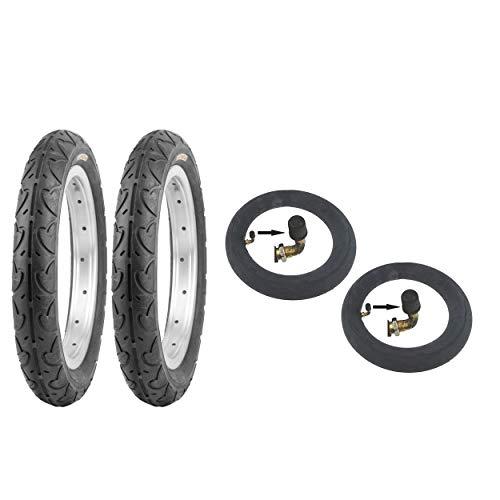 P4B | 10 Zoll Reifenset mit Schläuche | 2X Reifen + 2X AV Schläuche | Kinderwagenreifen | Buggyreifen | Laufradreifen | Kinderwagen Schlauch 10x2 | Nicht für schmale Radaufhängung geeignet!