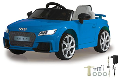 Jamara 460279 Ride-on Audi TT RS 12V-Softanlauf, 2-Gang, Fahrzeug, Blau