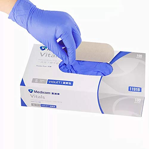 100 Pieces Protective polyethylene (PE) Gloves Disposable, Clear or Blue Gloves, Latex-Free, Powder-Free, Non-sterile, (Size: Large)