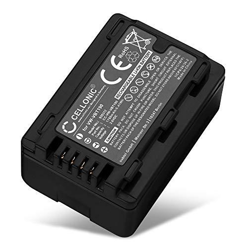 CELLONIC® Batería Compatible con Panasonic HC-V180 -V10 -V100 -V160 -V270 -V380 -V500 -V777 -V800 HC-VXF990 HC-VX980 HC-W580 HDC-SD40 -SD60 SDR-H80, VW-VBT190 VW-VKB180 -VBY100 1700mAh Pila Repuesto