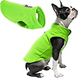 Gooby Fleece Vest Dog Sweater - Lime, Medium - Warm Pullover Fleece Dog Jacket with O-Ring Leash - Winter Small Dog Sweater Coat - Cold Weather Dog Clothes for Small Dogs Boy or Girl