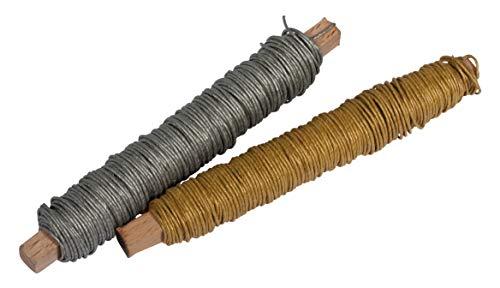 Rayher 24119000 Fil de papier , couleurs assort. ø0,55mm, sur bobine bois, 2x, à 40g, sct.-LS 32m