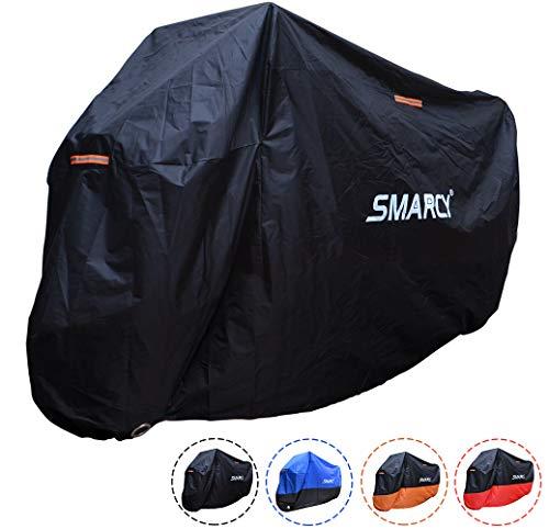 SMARCY® Motorradabdeckplane Motorradgarage Motorradabdeckung Wasserdicht Staubdicht Schwarz XXXL