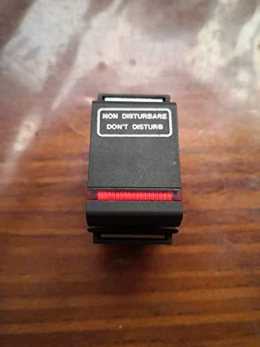 Botón luminoso con texto Bticino Living Classic art. 4505LE primera serie