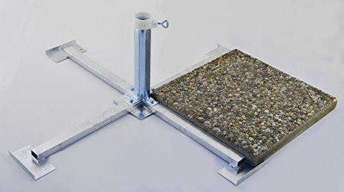 WEGEPLATTEN (50 x 50 cm) - SONNENSCHIRMSTÄNDER aus 4 mm Ø DEUTSCHEM STAHL - STABIELO - BIS 55 mm Ø - 80 µ FEUER VERZINKTER PLATTENSTÄNDER aus Metall für GROSSSCHIRME zum Einlegen von BETONPLATTEN 50 x 50 cm - DER STABIELO ® SONNENSCHIRM PLATTENSTÄNDER für Schirmstöcke bis Ø 55 mm - MADE in GERMANY - Sonnenschirmhalter - HOLLY PRODUKTE STABIELO ® - INNOVATIONEN MADE in GERMANY - holly-sunshade ® - PREISE SO LANGE VORRAT REICHT - LIEFERUNG ohne PLATTEN - PRODUKTE MADE in BADEN WÜRTTEMBERG -