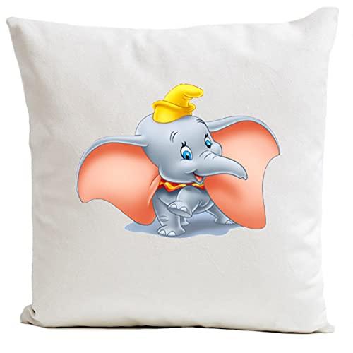 Funda de cojín blanco Suedine Sublimation de algodón, Dumbo 1, fabricado en Francia, marca O S I R I S I S I S