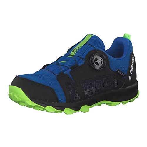 adidas Unisex-Kinder Terrex Agravic Boa R.rdy K Leichtathletik-Schuh, Ruhm Blau/FTWR Weiss/Signal Grün, 38 2/3 EU