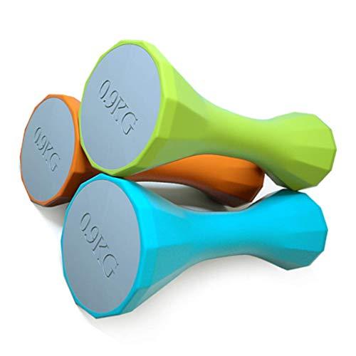 Kurzhanteln, Aerobic-Kurzhanteln, Frauenfitness Dünner Arm Gewichtsverlust Brustvergrößerung Kleine Kurzhanteln, Armtraining-Kurzhanteln, drei Farben (grün / orange / blau), Gewicht: 4 Pfund / 6,6 Pfu