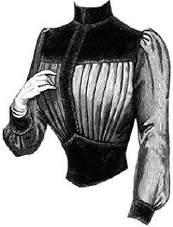 1887 Corsage with Velvet Yoke & Bodice Pattern