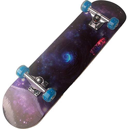 qiaoke Skateboard Erwachsene, Flash Rad Ahorn Skateboard leise ABEC-7 Lager Magnesium Aluminiumlegierung Halterung...