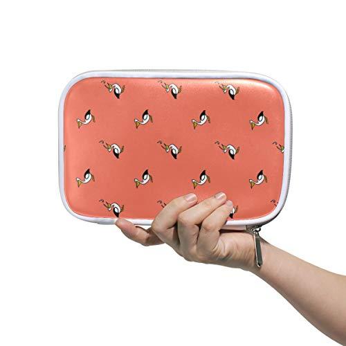 Vogels Pelikaan Naadloos Patroon Roze Potlood Case Cosmetische Tas Grote Capaciteit Organizer Make-up Koppeling Tas voor Travel School