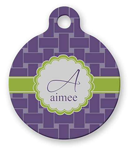 YouCustomizeIt Waffle Weave Round Pet Tag (Personalized)