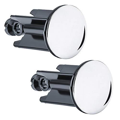 IWILCS - Tappo di scarico per lavabo, 2 pezzi, per lavandino e lavabo, tappo di scarico di qualità, per lavabo da cucina e bagno, lavabo