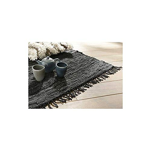 shabbyshop Tapis Cuir RECYCL GRIS120X180