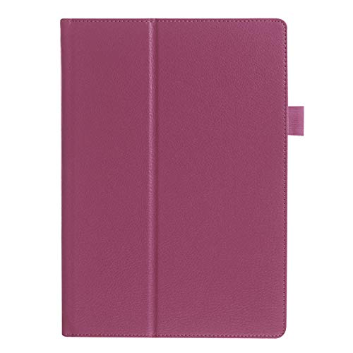 para Lenovo Tab3 10 Business TB3-X70F / M Tablet Funda de Cuero 10.1 Pulgadas para Lenovo Tab2 A10-70F / L A10-30 X30F-púrpura