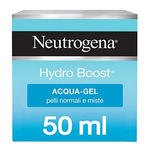 Neutrogena, Acqua Gel, Hydro Boost, Pelli Normali e Miste, Idratante, Hyaluronic Gel Matrix, Acido Ialuronico, Pelli Sensibili, 50ml
