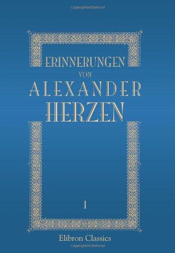 Erinnerungen von Alexander Herzen: Band I