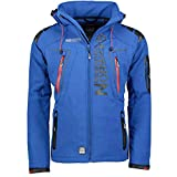Geographical Norway Techno Softshelljacke Herren Kapuze abnehmbar, Royal, L