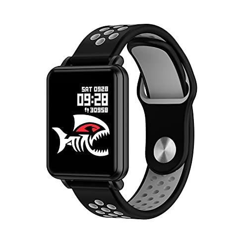 N \ A Relojes Inteligentes para Hombres y Mujeres para teléfonos Android e iOS, Relojes Inteligentes con Pantalla táctil de 1.3', podómetro a Prueba de Agua IP68, Reloj con Monitor de sueño Negro