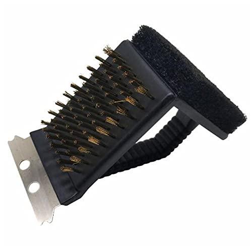 SRXSMGS Cepillo para Barbacoa Barbacoa Duradera Parrilla Limpieza Brocha Tres en uno Esponja Espátula Espátula Barbacoa Accesorios de Limpieza (Color : A)