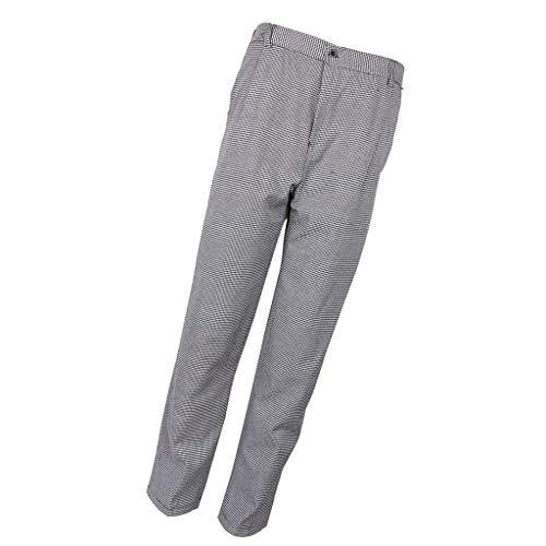 B Baosity Pantalón De Trabajo Para Hombre Gastronomía Pantalón De Cocina Ropa De Chef Pantalones De Cocinero Pantalones De Panadero M-5XL - Pata de gallo, XL