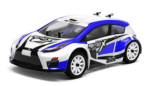Exceed RC MicroX Racing 1/24 Micro Scale Rally Car Ready to Run 2.4ghz (Blue)