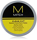 Paul Mitchell Mitch Clean Cut Medium Hold/Semi-Matte Styling Cream for Men, 3 Ounce