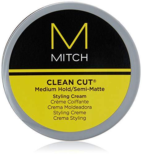 Paul Mitchell MITCH Clean Cut - Styling-Creme für semi-matte Männer-Haare, Haar-Wax für mittleren Halt beim stylen von unkomplizierten Looks, 85 g