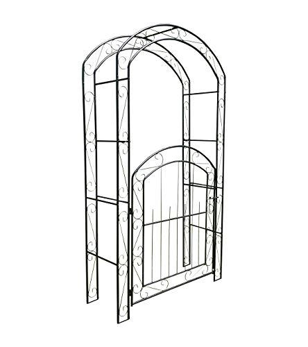 Selections Metal Windsor Garden Arch with Gate and Fixing Pegs