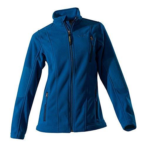 Owney Damen-Doubleface-Fleecejacke Juneau, Petrol Blue, Gr. XL