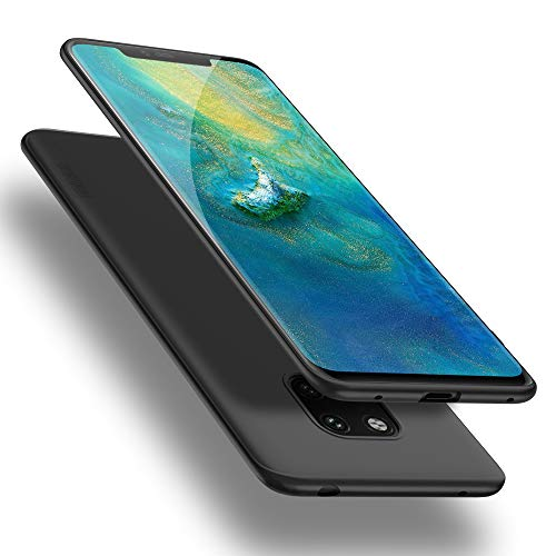 X-level Huawei Mate 20 Pro Hülle, [Guardian Serie] Huawei Mate 20 RS Hülle, Soft Flex Silikon Premium TPU Handyhülle Schutzhülle für Huawei Mate20 Pro / Mate20 RS Hülle Cover - Schwarz