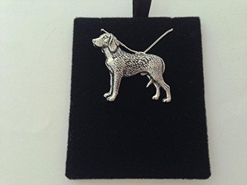 D23 - Collar de plata de ley 925 con cadena de 40,6 cm hecha a mano con prideindetails caja de regalo