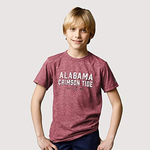 LEAGUE&CO NCAA Teen-Boys Kids Victory Falls Tee, Jungen, Kids Victory Falls Tee, Heather Vintage Light Maroon, X-Large