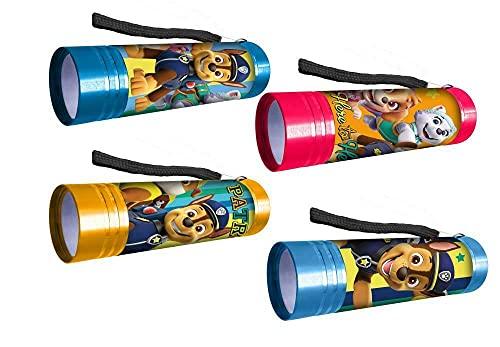 Juego de 2 linternas LED de aluminio de la Patrulla Canina, para niños