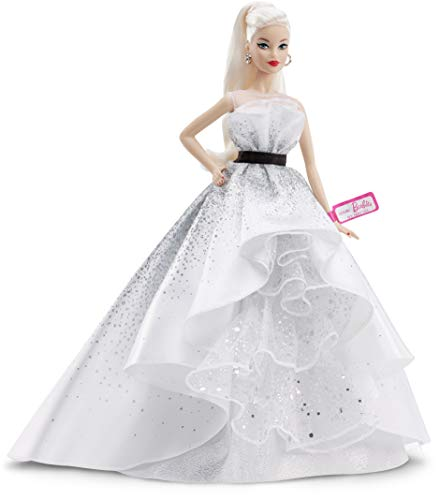 ​Barbie Collector: 60th Anniversary Doll, 11.5-Inch, Blonde, with Diamond-Inspired Gown and Wrist Tag​​​
