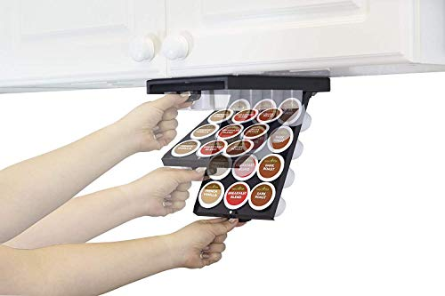 EZ-Shelf by Perfect Pod | Under Shelf Storage for K Cups, Coffee Holder Compatible with Keurig K Cup Coffee Pods, Space-Saving Under Counter Cabinet Coffee Pod Holder