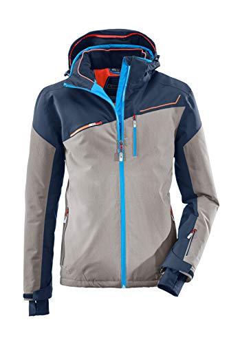 killtec Skijacke Herren Den - Snowboardjacke Herren mit Schneefang - wasserdichte Jacke mit Skipasstasche - atmungsaktiv, mittelgraumelange, XXL