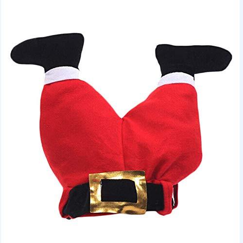 DolMaring kerstmuts, grappige kerstmuts, kerstman, grappige broek, pluche hoed, kerstmuts, decoratie