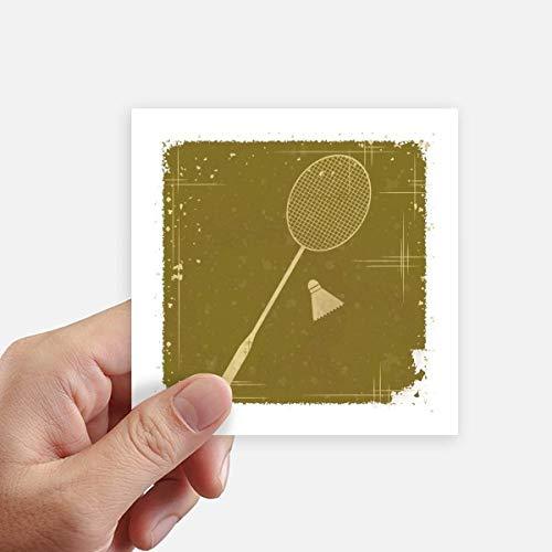 DIYthinker Sport Badminton Illustration Muster-Quadrat-Aufkleber 10Cm Wand Koffer Laptop Motobike Aufkleber 8Pcs 10cm x 10cm Mehrfarbig