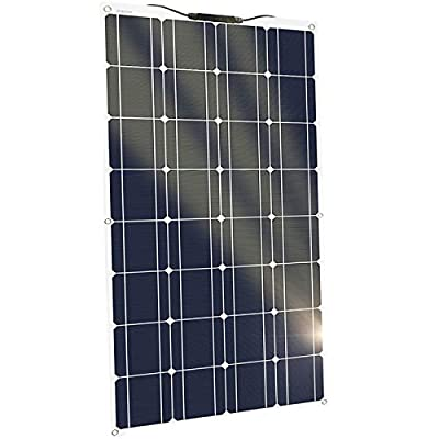 100W Flexible Solar Panels Portable RV Solar Panel Battery Charger Kit 12V Monocrystalline Emergency Charging Off Grid System for Homes Car RV Boat Camping Travel