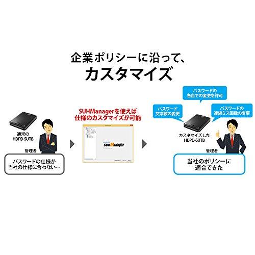 I-ODATAハードウェア暗号化&パスワードロック対応耐衝撃ポータブルHDDHDPD-SUTB1(USB3.0対応/1.0TB)