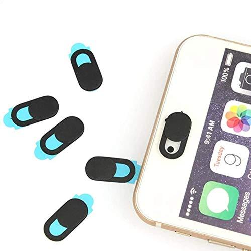 BUYGOO 6PCS Cubierta para cámara Web con Adhesivo Fuerte de 3M para computadora portátil, Eco, Mac, Pro, Teléfono móvil, iPad para Mantener su privacidad (0.68 mm de Grosor)