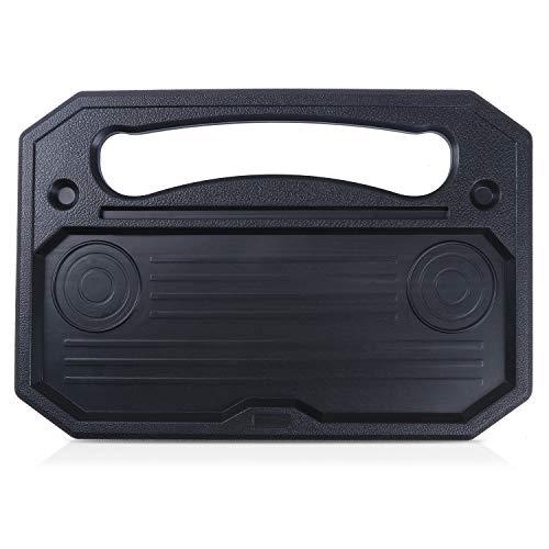 Bandeja de comedor para volante de coche, bandeja para volante de coche, soporte para asiento de vehículo, escritorio portátil para comer portátil negro