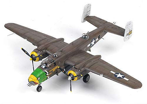 Academy 12328 1:48 USAAF B-25D Pacific Theatre US Army Air Forces Plamodel Plastic Hobby Model Airplane Kit Toy (Paint Not Included)