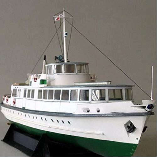 ZKRZ Diy Papier Model 1:100 Kust Ferry Schip Assemble Hand Werk 3D Puzzel Spel Kids Speelgoed