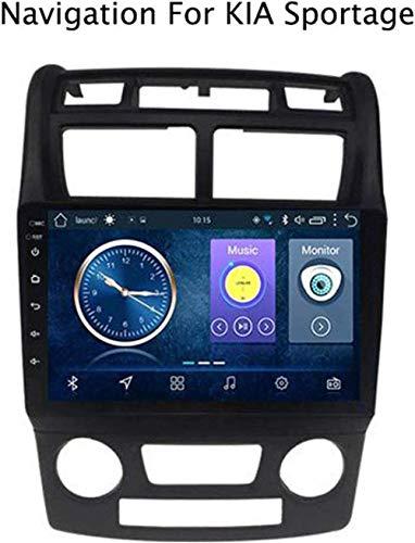 Lour Android 8.1 GPS Radio TV, Llena la Pantalla táctil de 9 Pulgadas de Radio para KIA Sportage 2007-2013 con Dab CD DVD estéreo con Control de Bluetooth del Volante de dirección de los