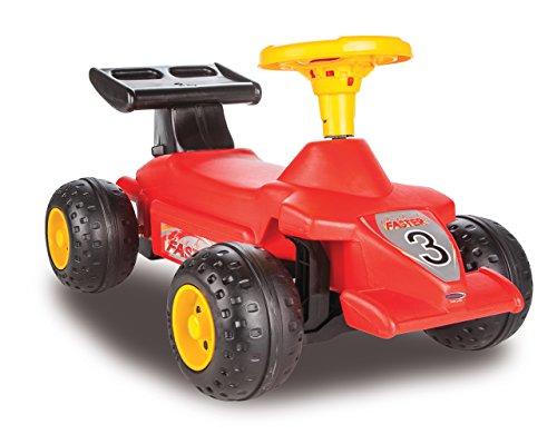 Jamara 460274 – halkfri formula Kid röd – stabil och robust, hållhandtag i bakrutan, vändskydd, tilltalande design i röd eller ljusblå, hupe