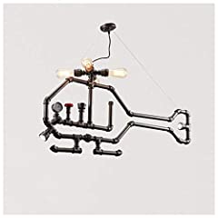 Bulb and Size:115*55cm This Industrial table lamp is versatile, well match for all kinds of decoration style such as retro styles, steampunk or contemporary styles. Unique decoration for your living room, bedroom, hallway, study room ,dinning room ev...